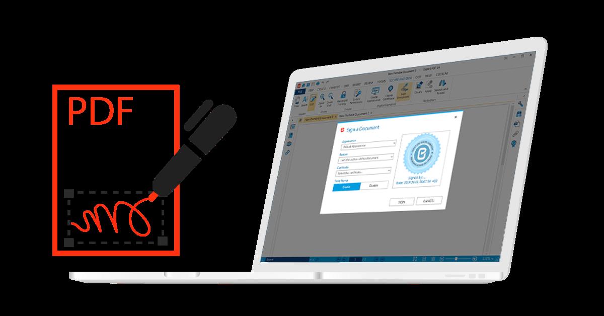 Das Papier fertig! Erstellen Sie mit Expert PDF sichere digitale Signaturen für Ihre Dokumente und Verträge.