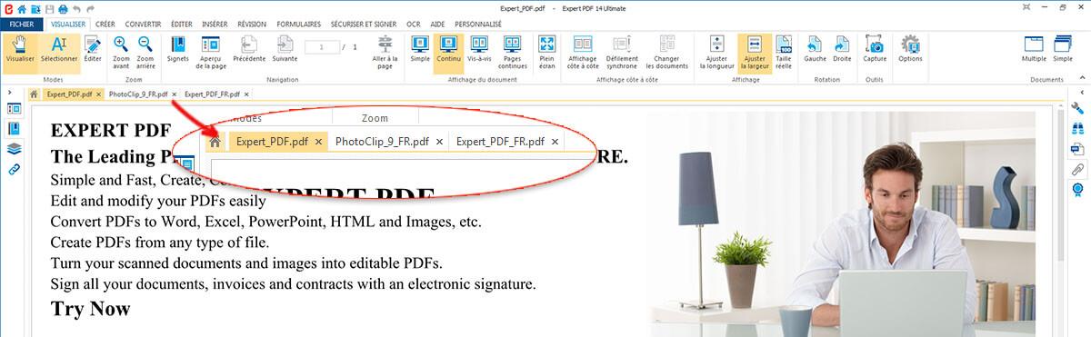 OUVRIR PLUSIEURS DOCUMENTS PDF