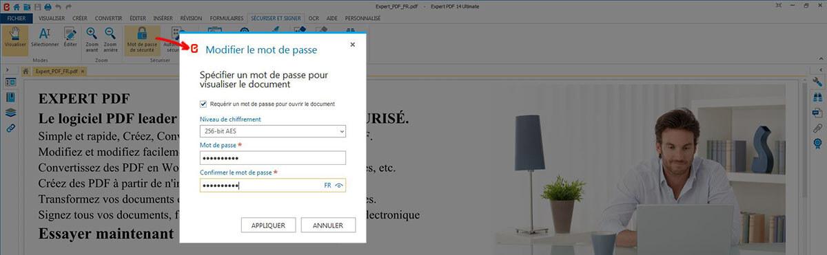 SÉCURISER PDF AVEC UN MOT DE PASSE
