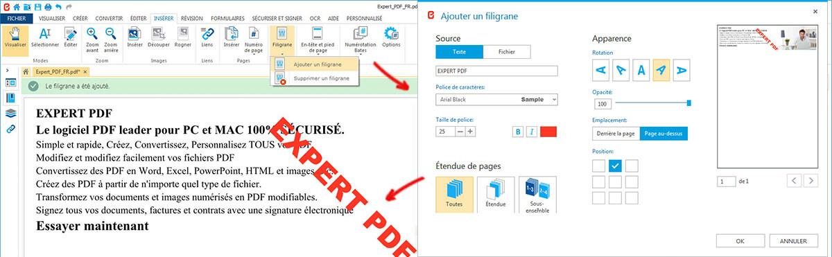 PROTÉGER PDF DES PLAGIATS  : AJOUTER UN FILIGRANE