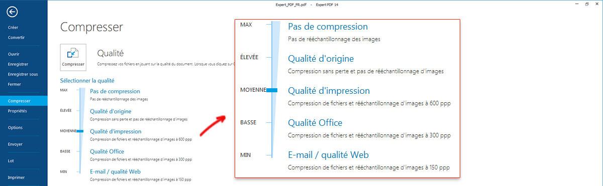 RÉDUIRE LA TAILLE DU PDF