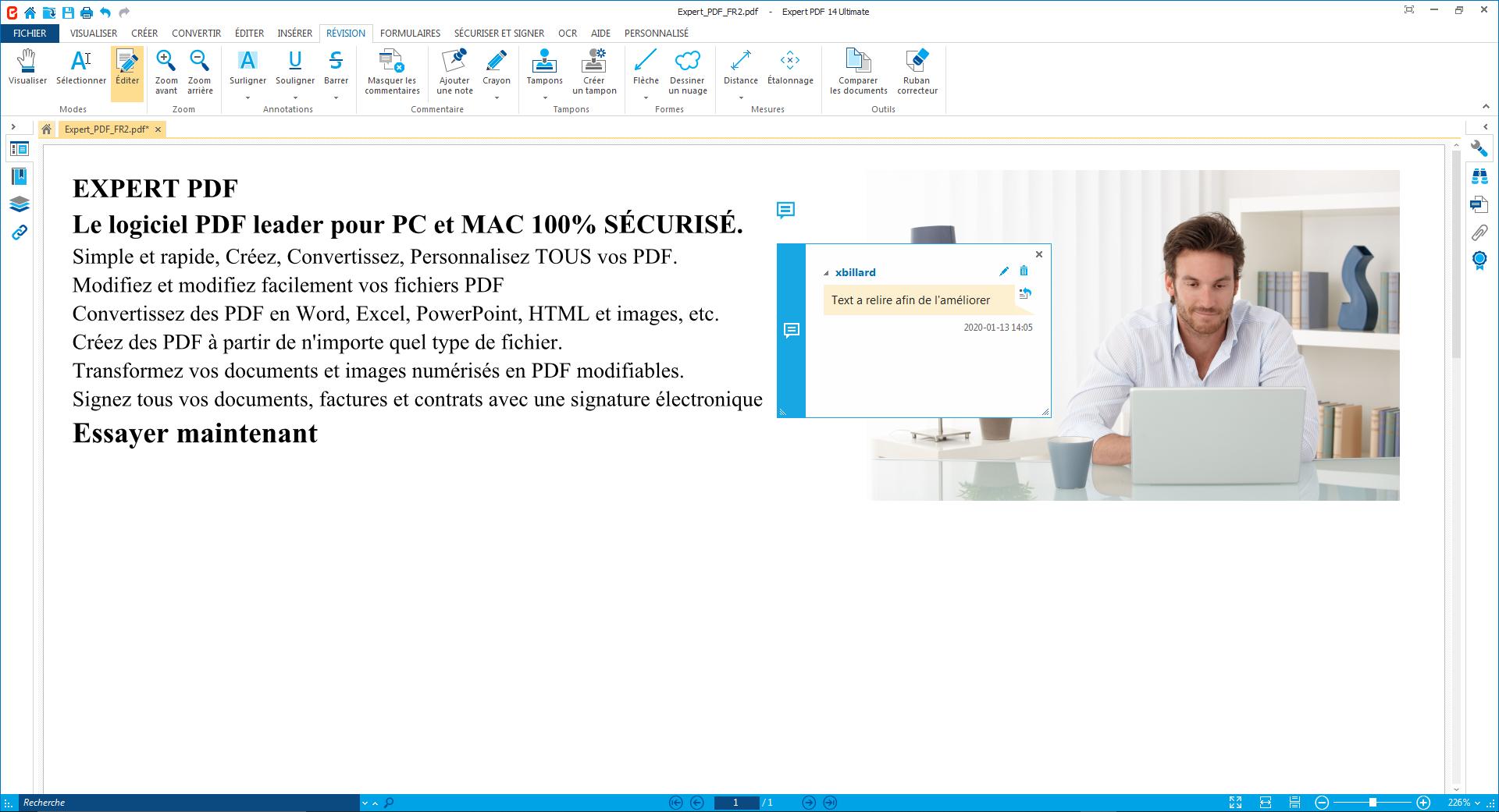 Approuvez les PDF, laissez un commentaire à vos collègues...