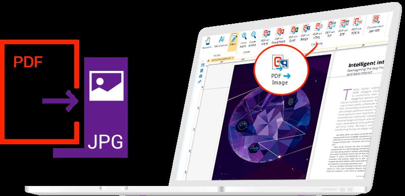 Conversione di file PDF in JPG grazie a Expert PDF