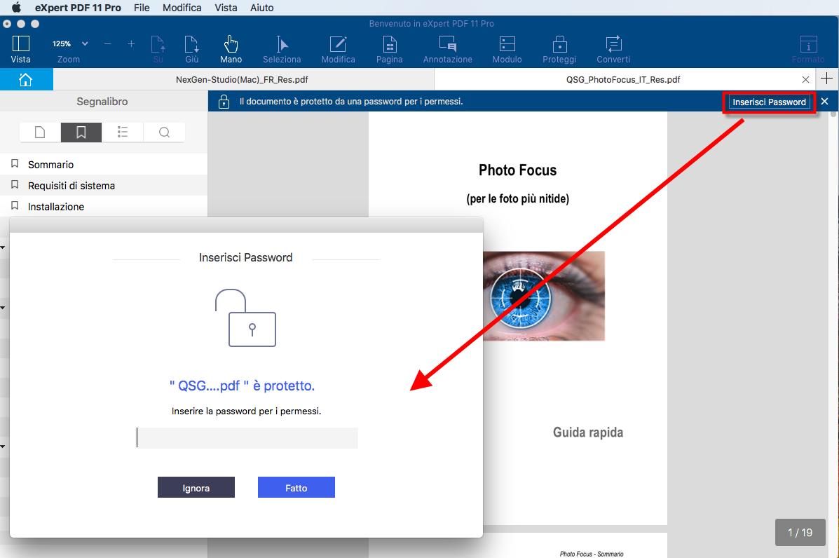Immetti Password
